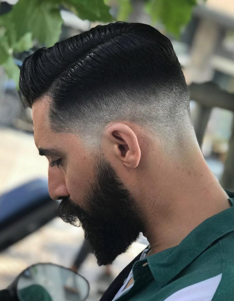 Low Fade and Full Beard