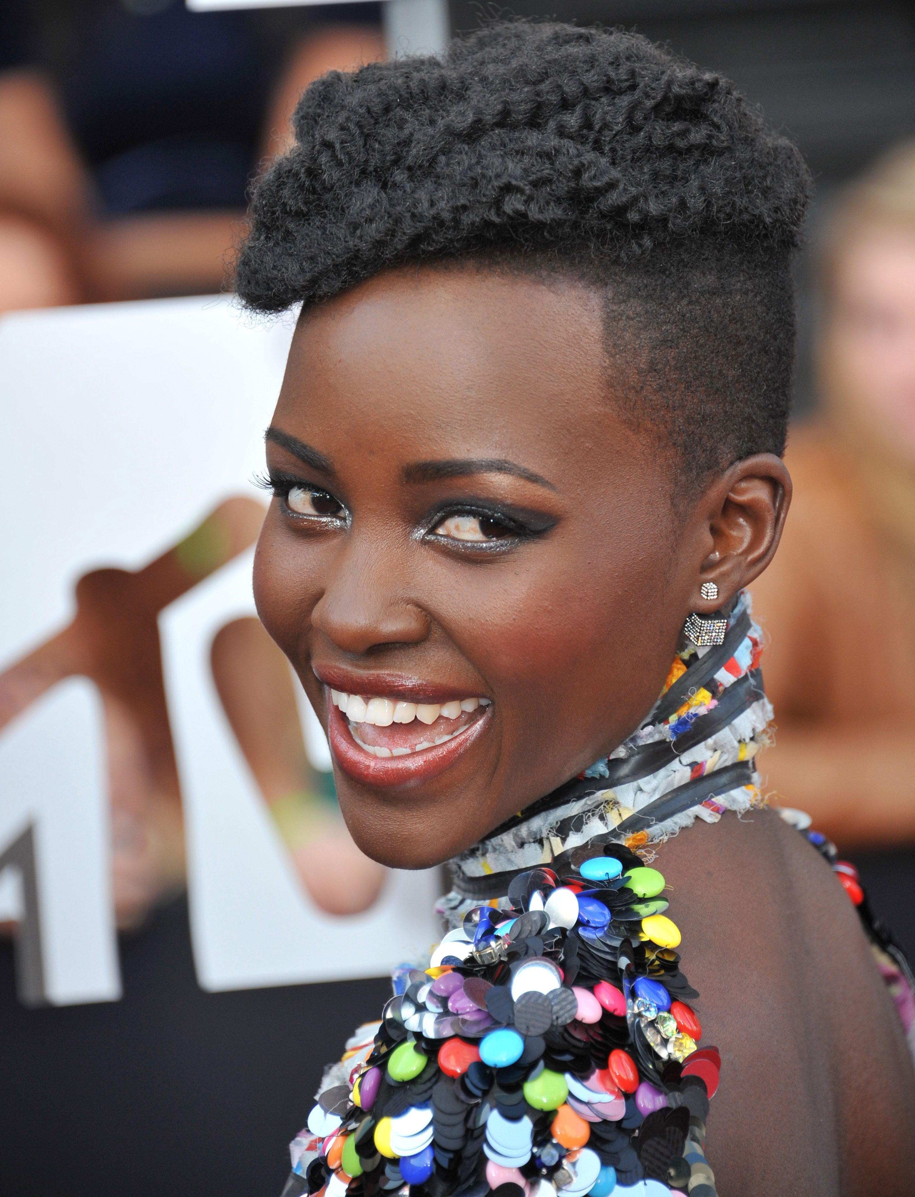 Lupita Nyong'o with Her Crown Undercut