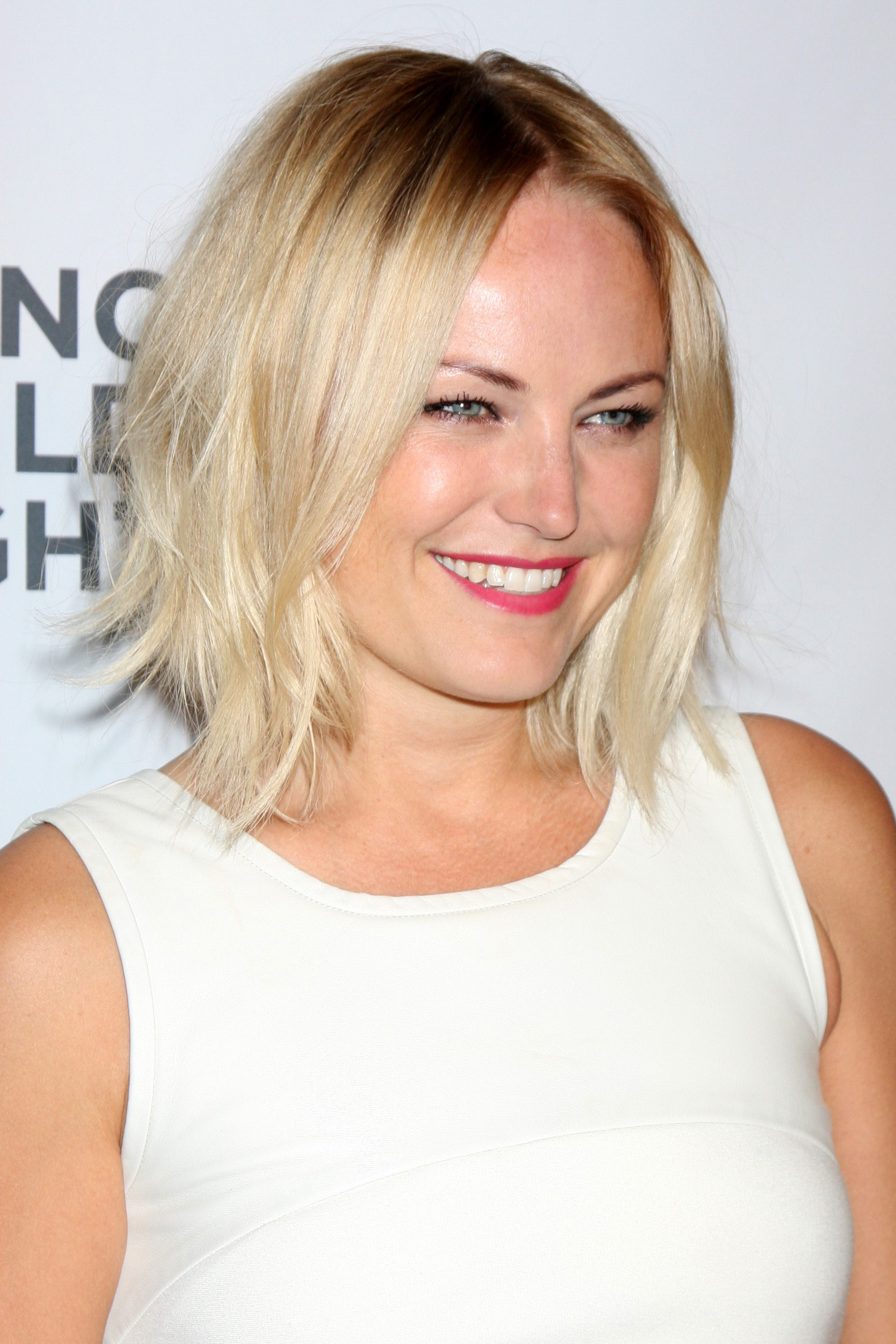 Malin Akerman's Center-Parted Bob with Choppy Ends