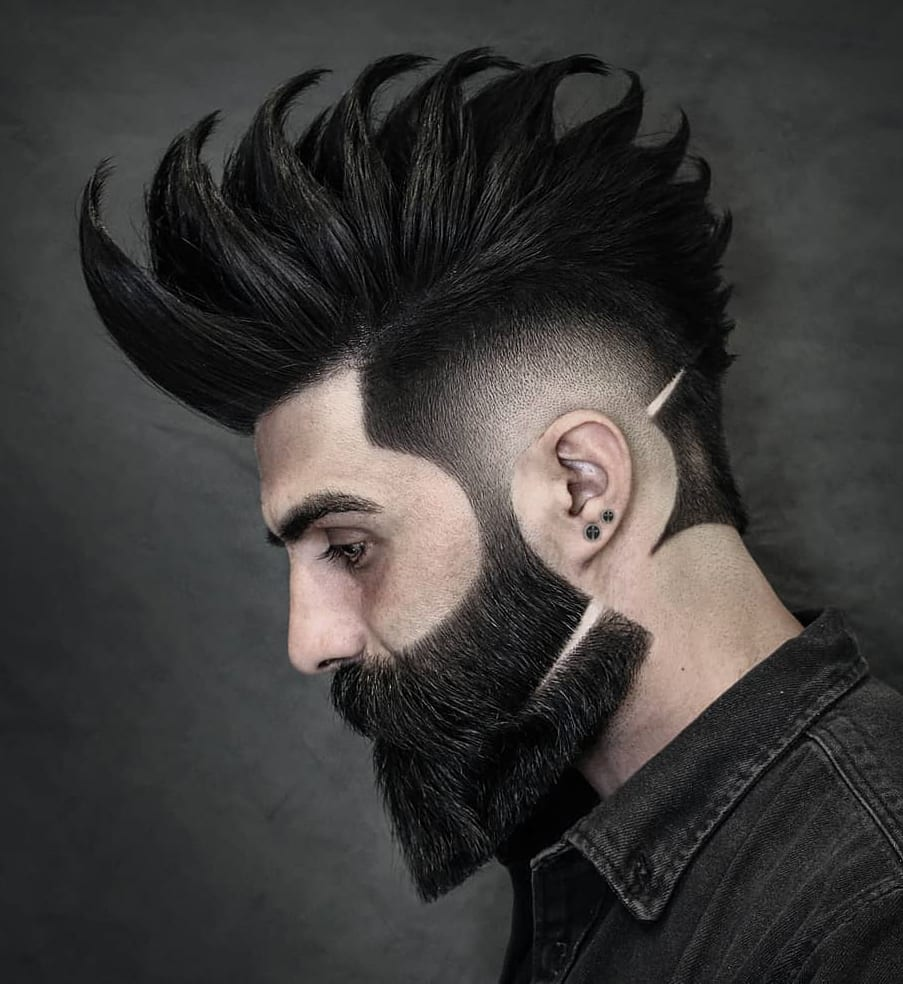 Manicured Beard and Thick Spikes Pattern
