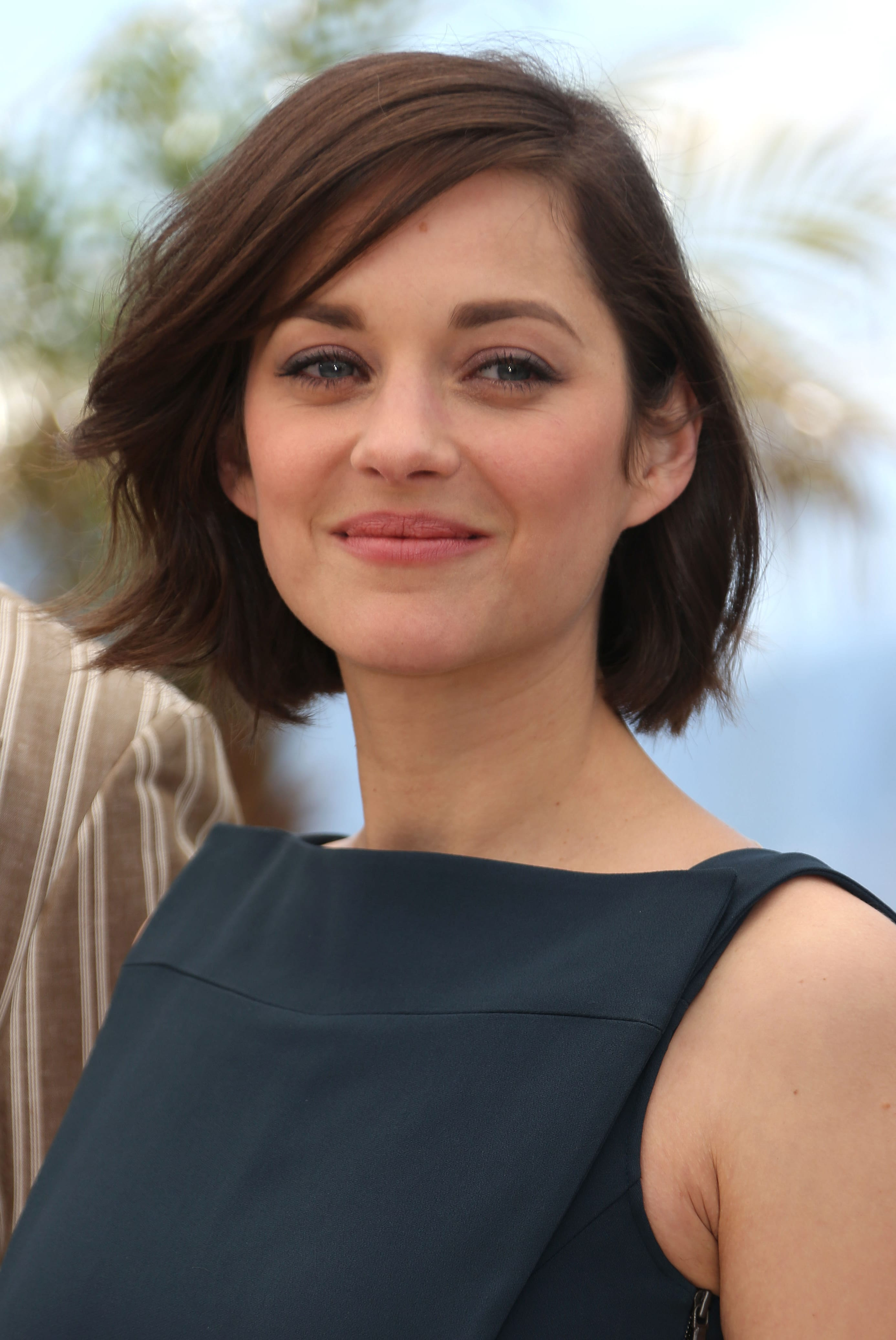 Marion Cotillard's Bob with Side Swept Bangs