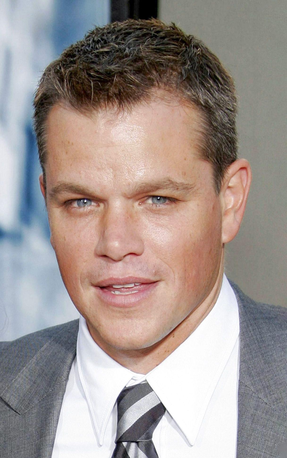 Matt Damon crew cut ivy league haircut