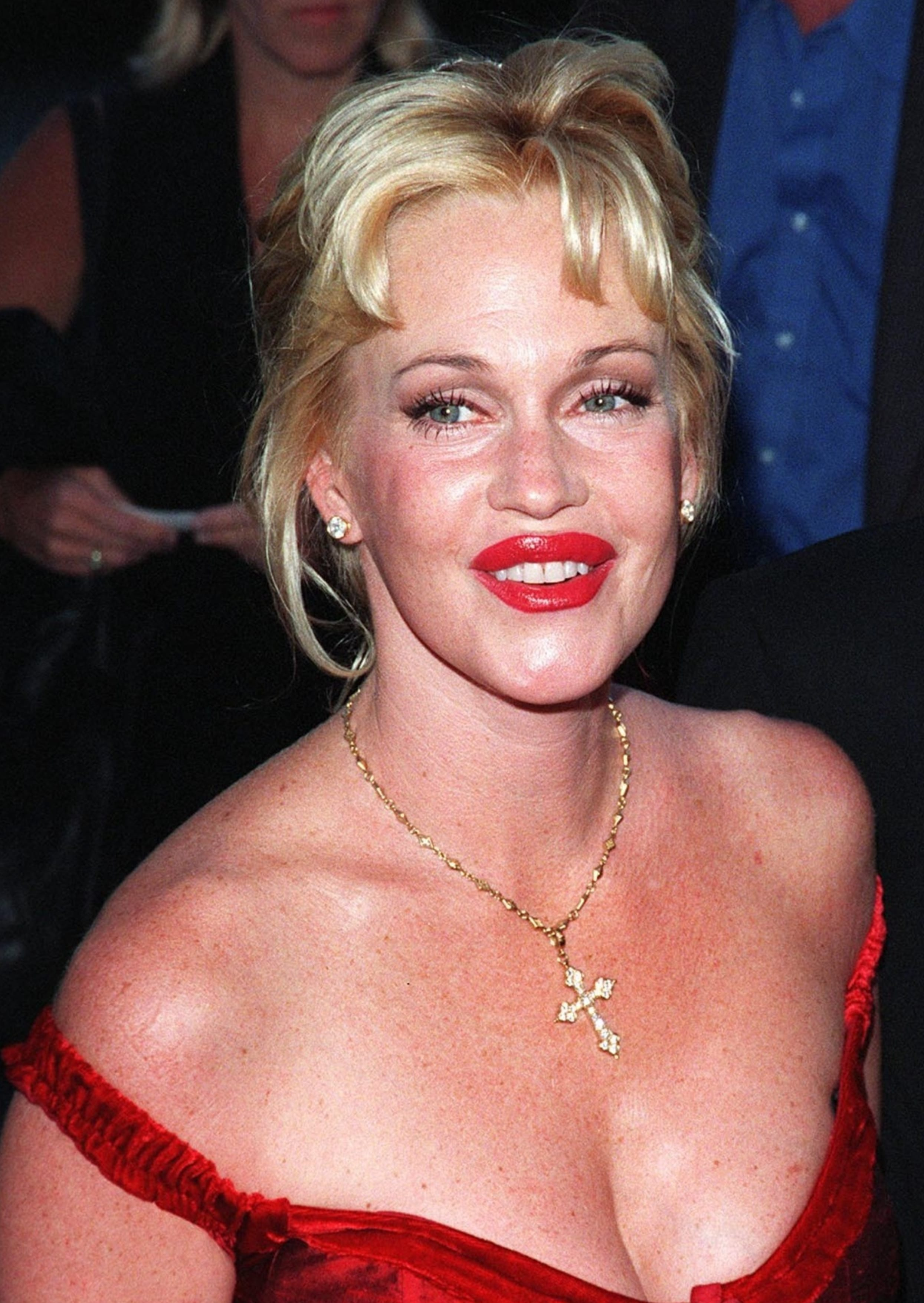 Melanie Griffith And Her Messy Updo
