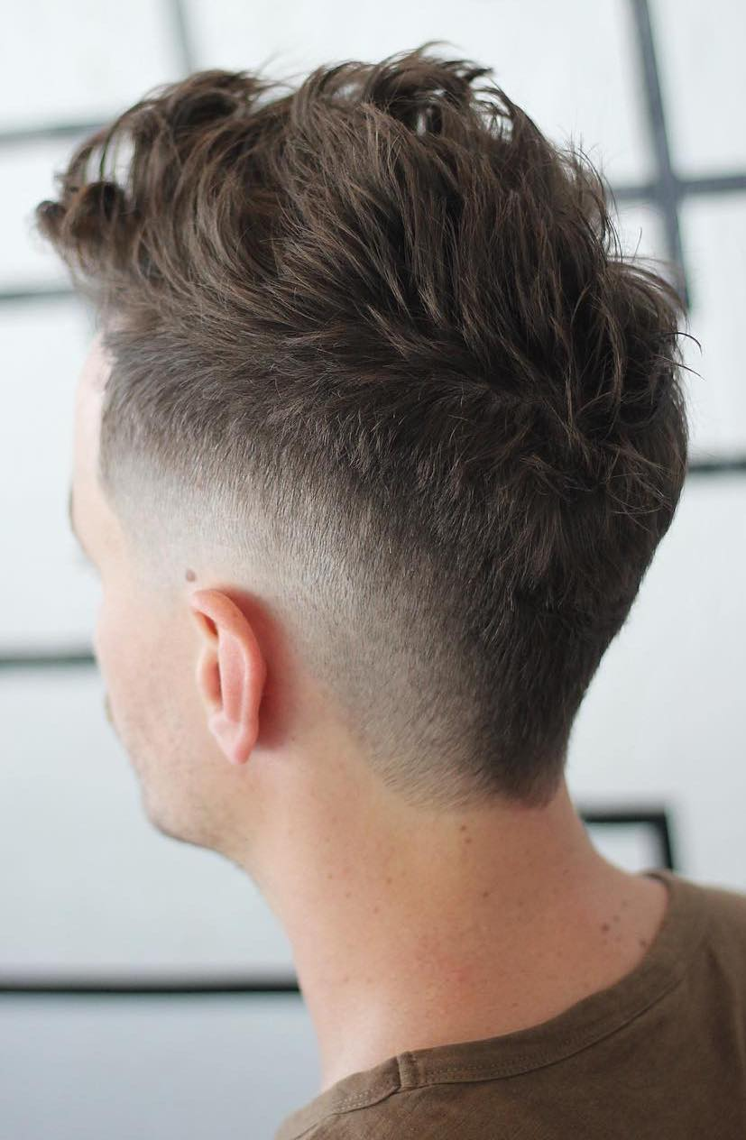 Messy Top with Burst Fade