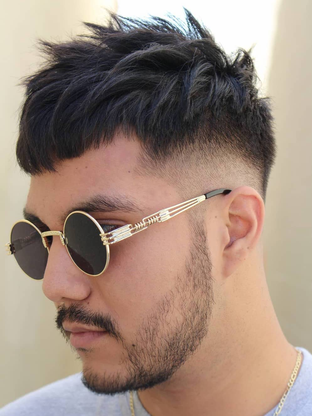 Mid Fade with Textured French Crop