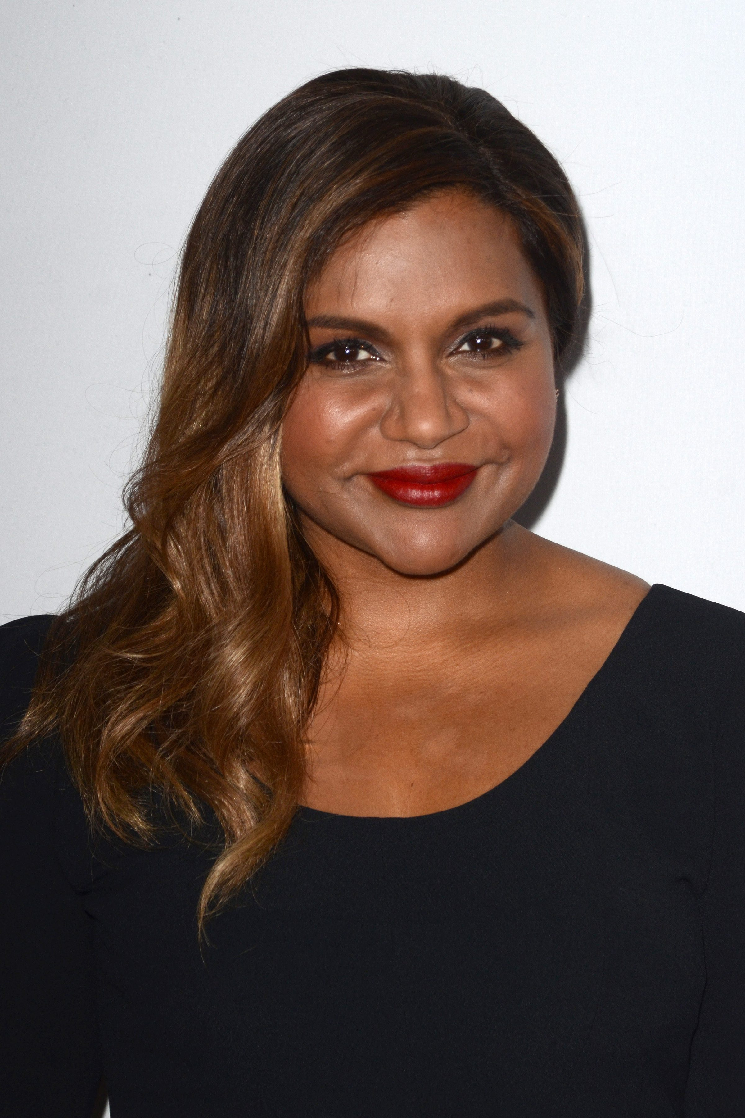 Mindy Kaling's Chocolate Brown Ombre