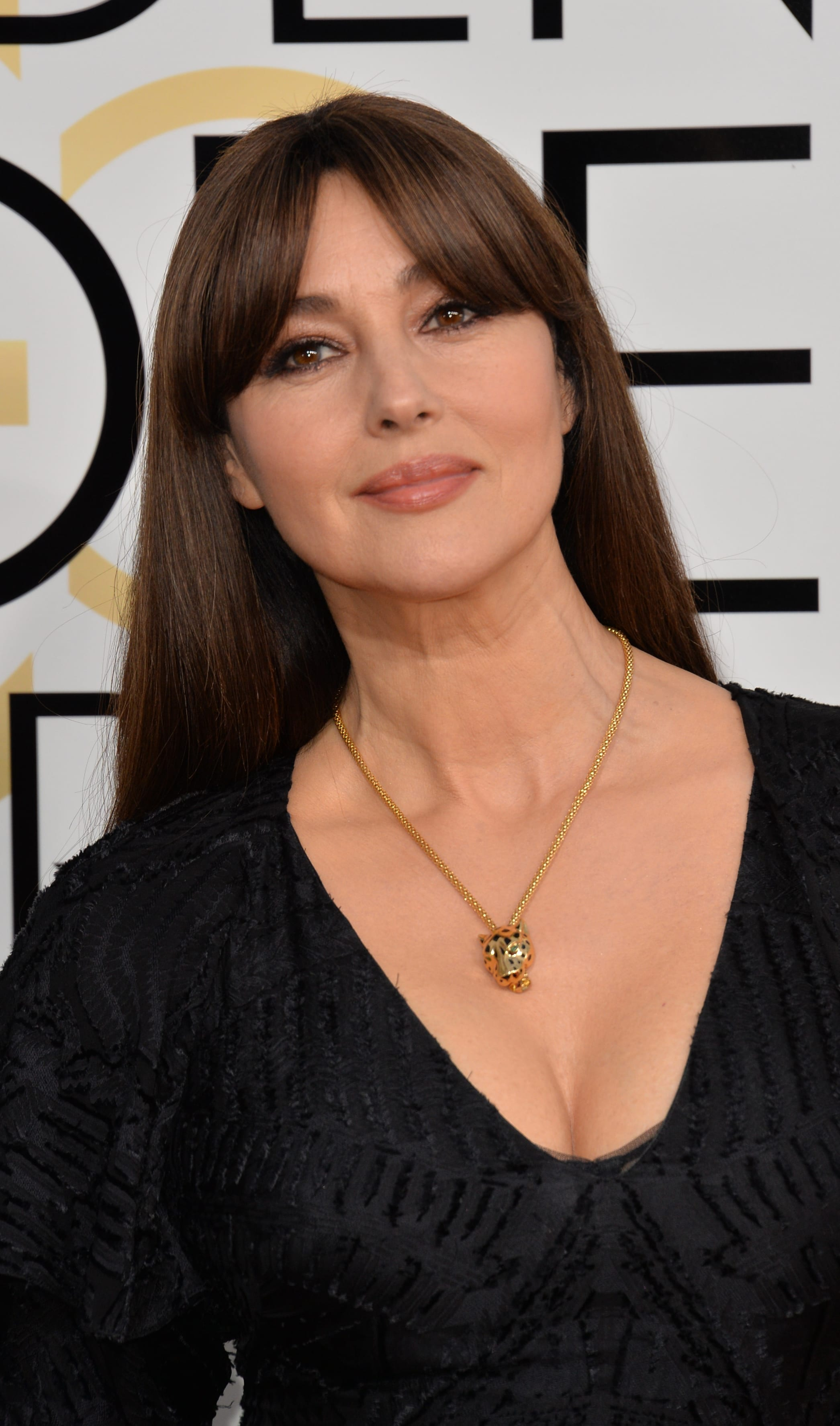 Monica Bellucci's Mid-Parted Fringe