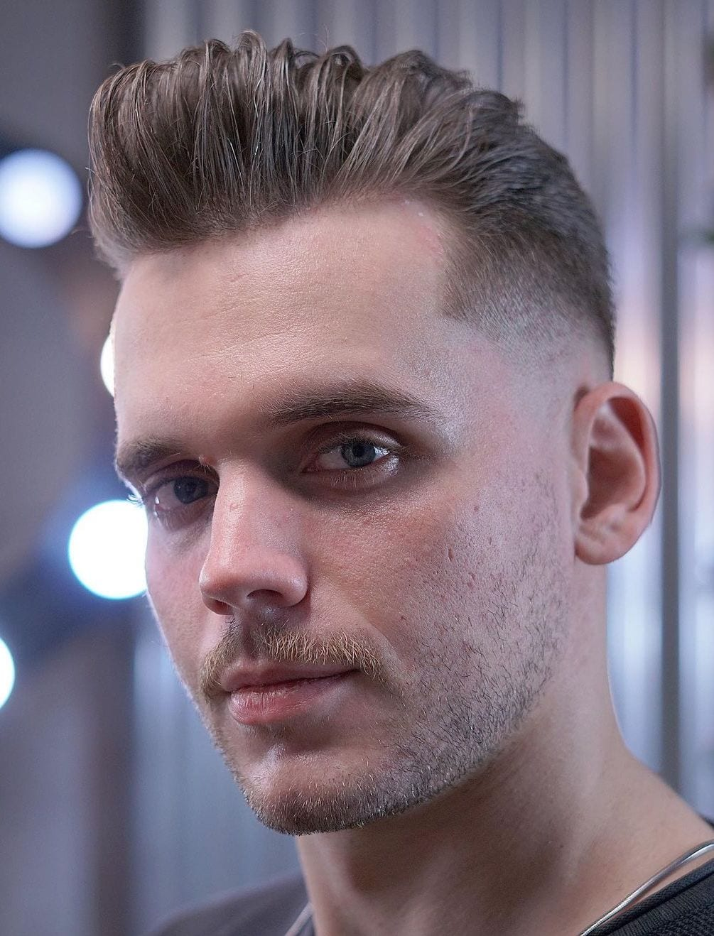 Neat Pompadour with Faded SIdes