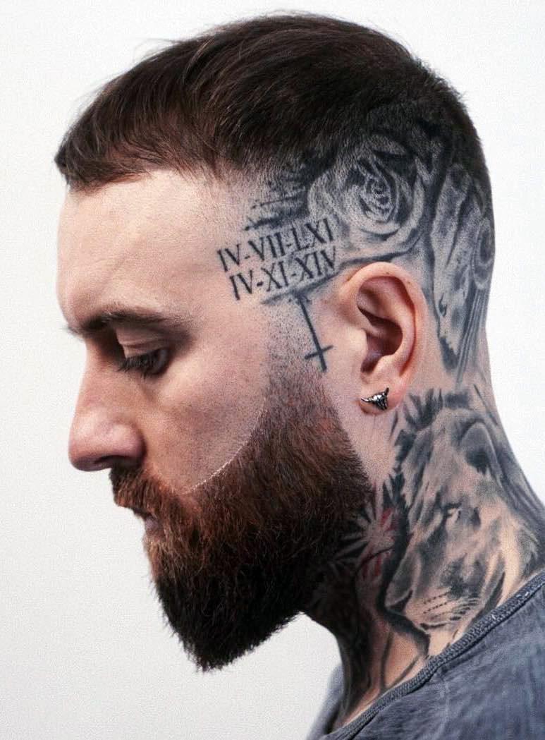 Neat and Sharp Tattooed Skull