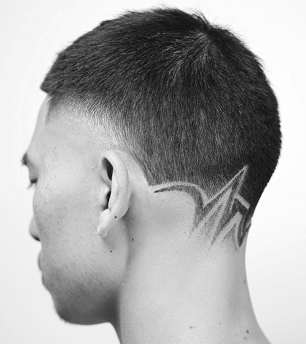 Neckline Hair Design