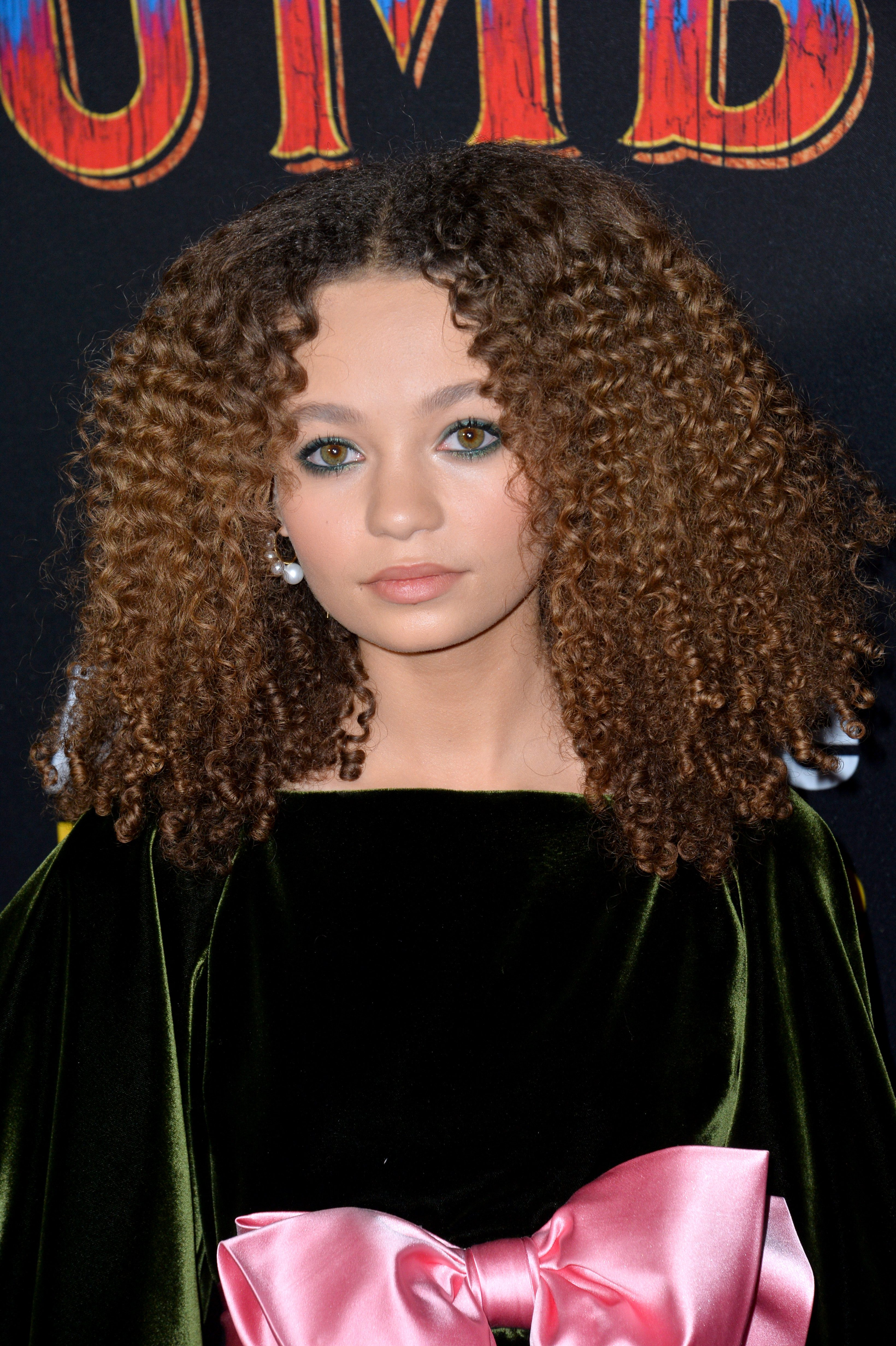 Nico Parker's Caramel Highlights on Afro Hair