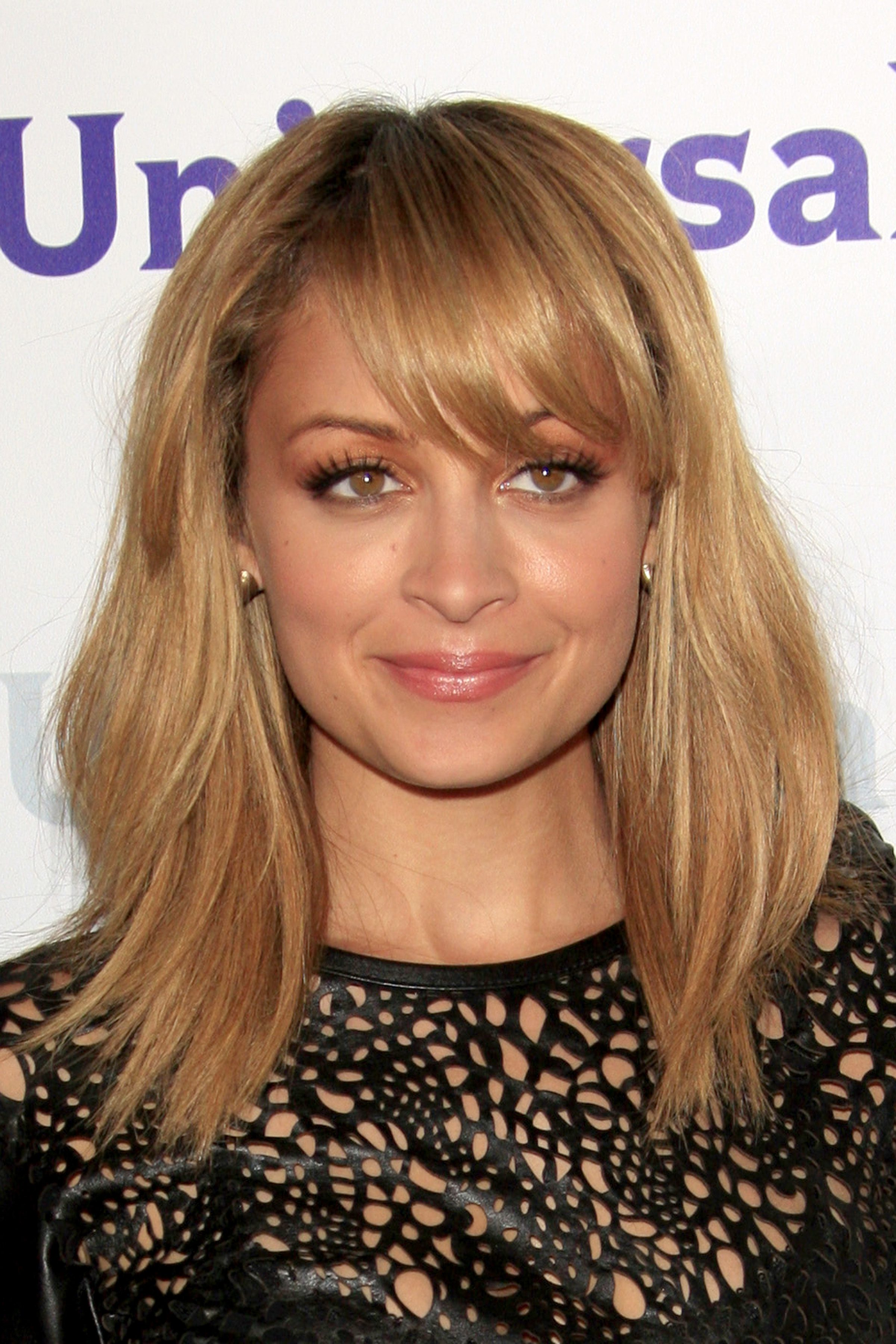 Nicole Richie's Layered Cut With Side Bangs