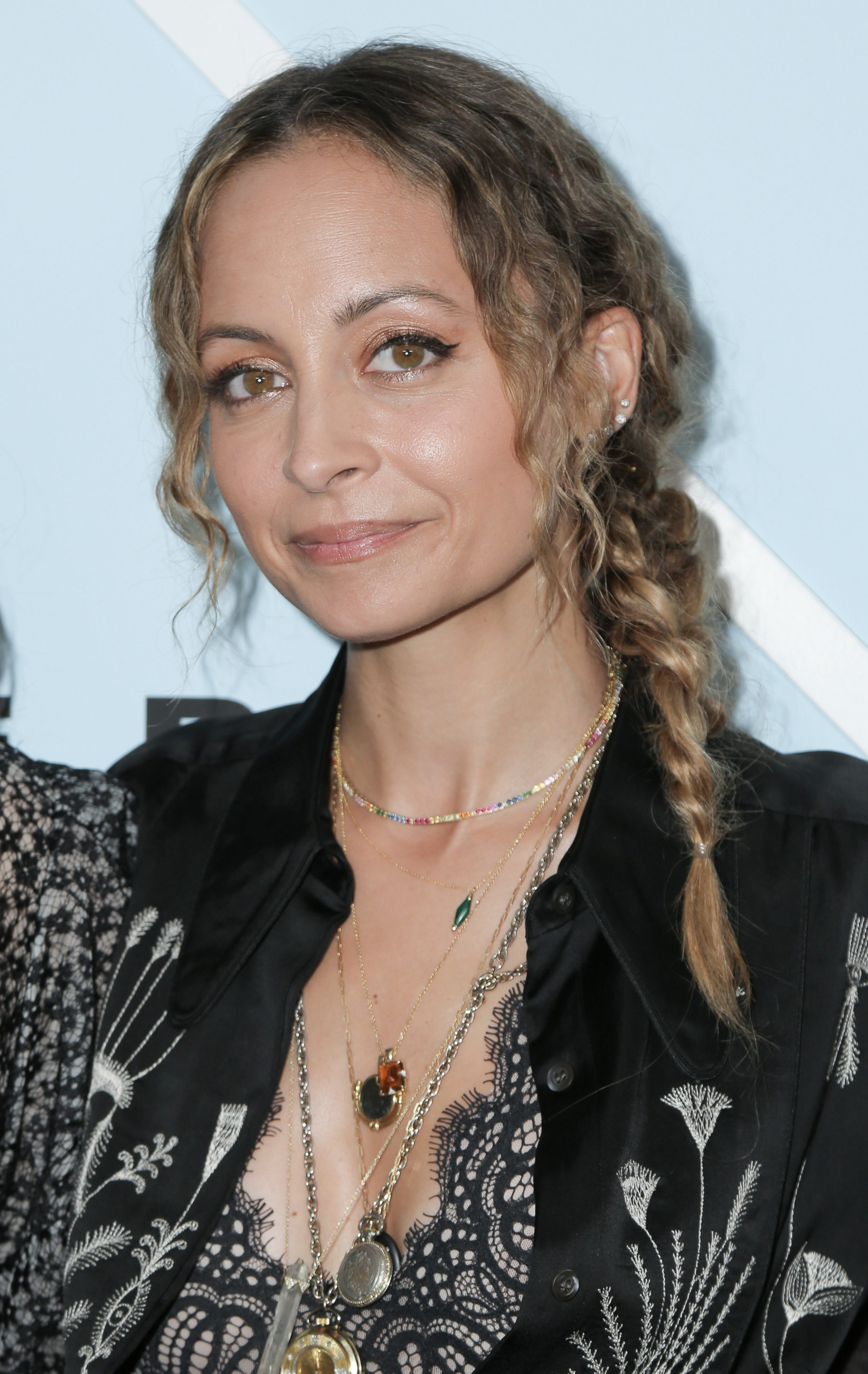 Nicole Richie's Short Braid with Frizzy Waves