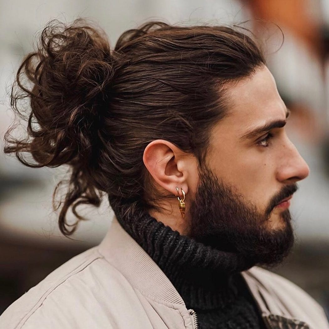 Open Ended Curly Back Man Bun