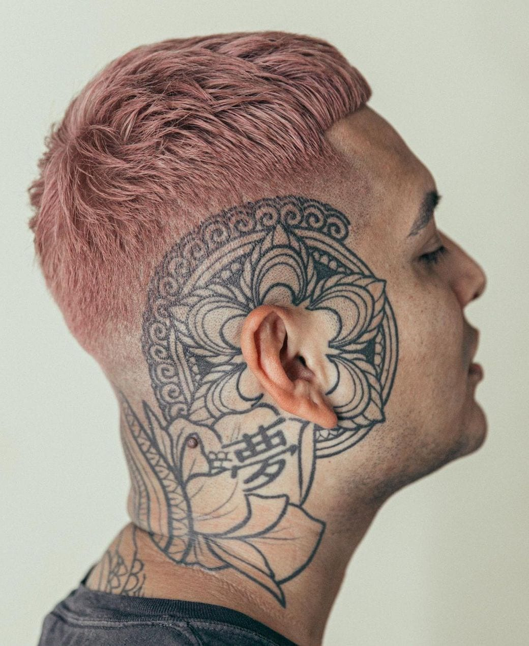 Pastel Pink French Crop with Taper Fade