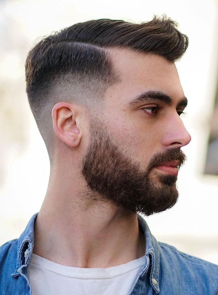 Perfectly Balanced Mid Fade with Thick Beard