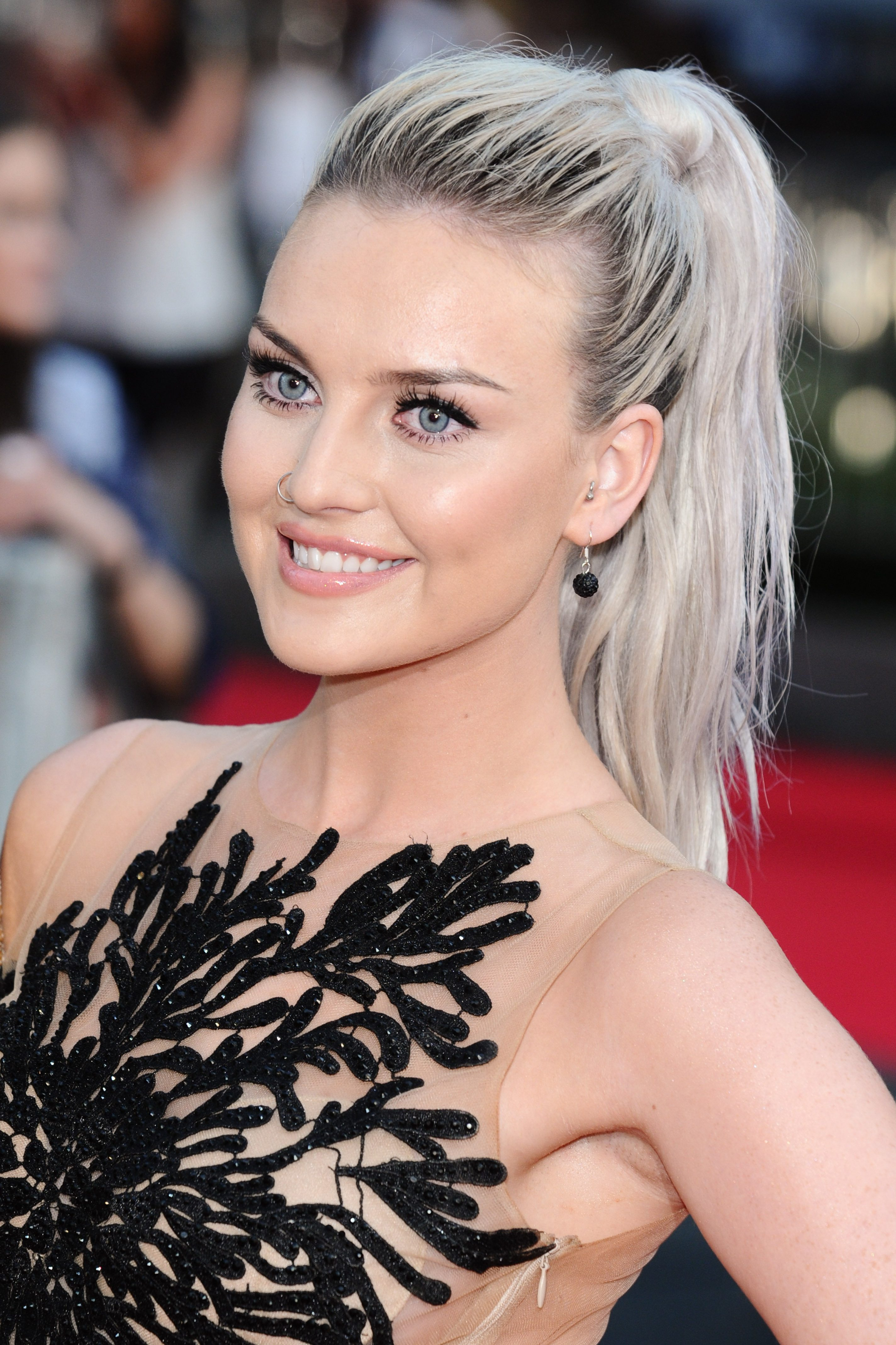 Perrie Edwards' Silver Hair with Dark Roots
