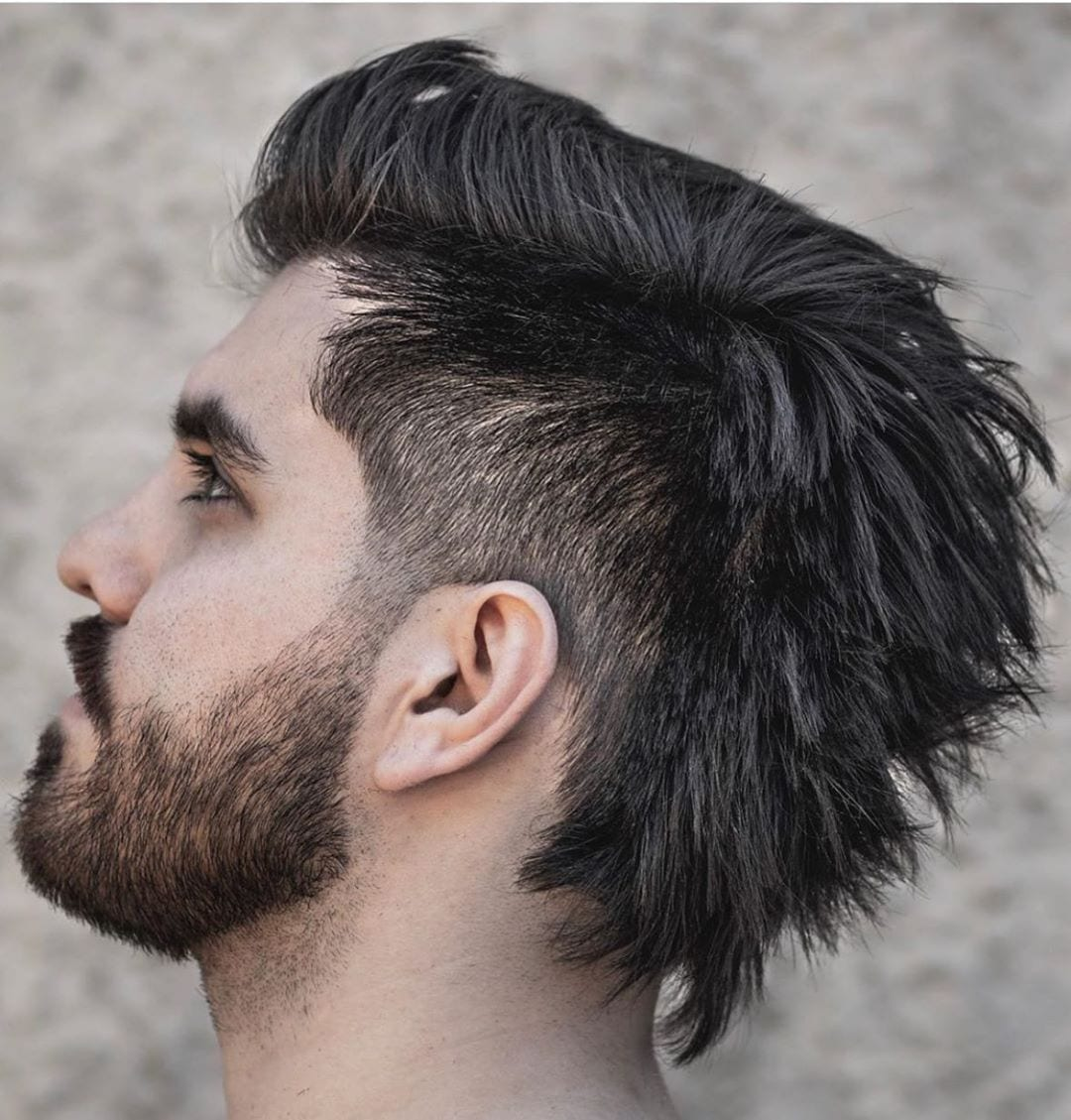 Pocky Mullet with Taper Faded Sides