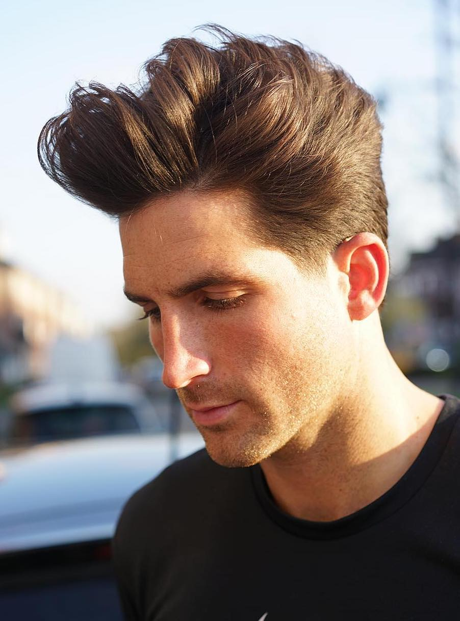 Pompadoured with Thin Haired Swivel