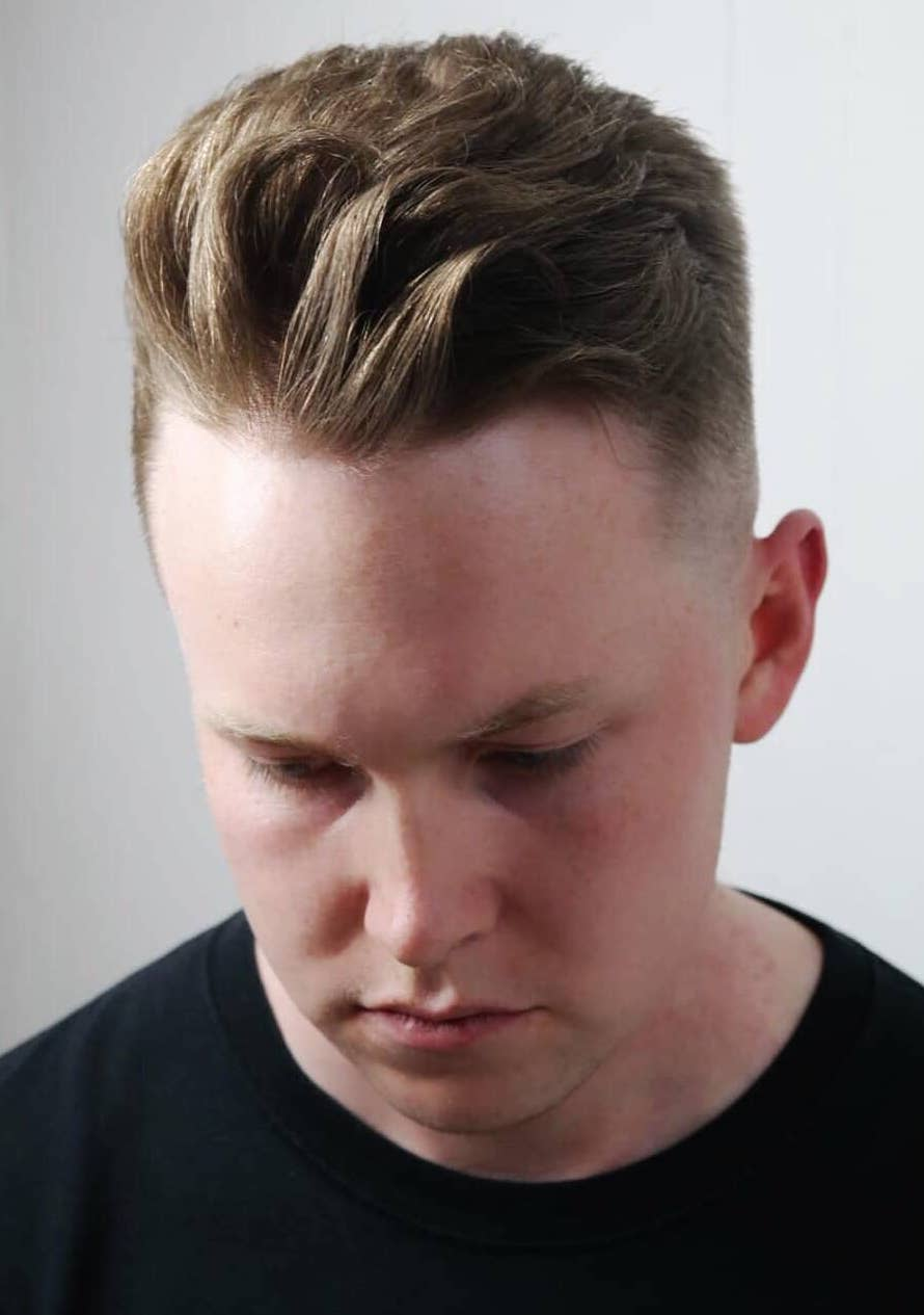 Quiff Riding the Waves with Faded Sides