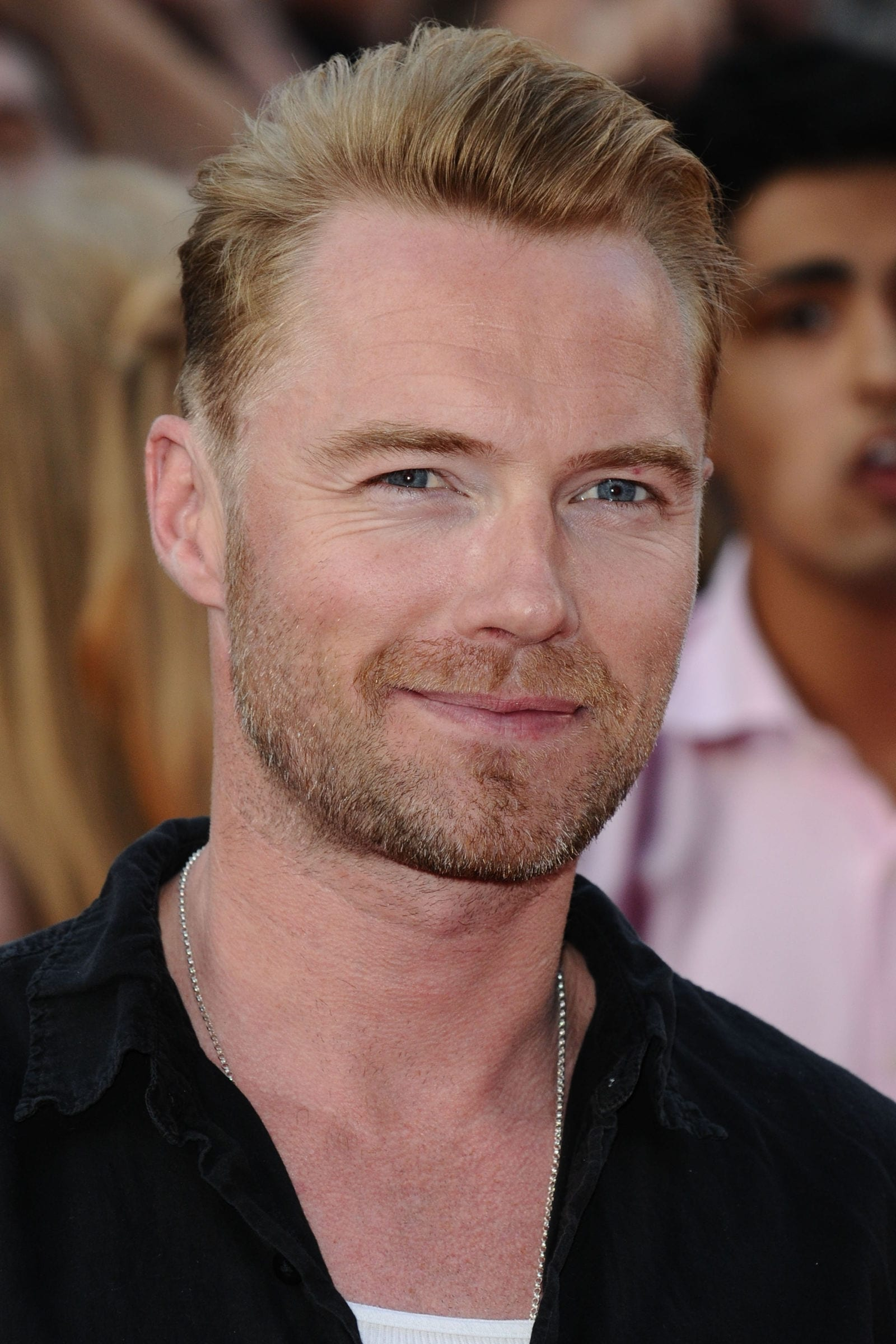 Ronan Keating Slicked Back Undercut Blonde Hair