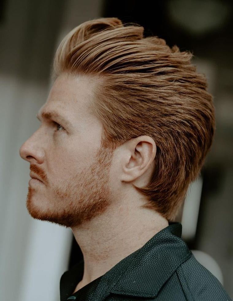 Rusty Blonde Combed Pushback