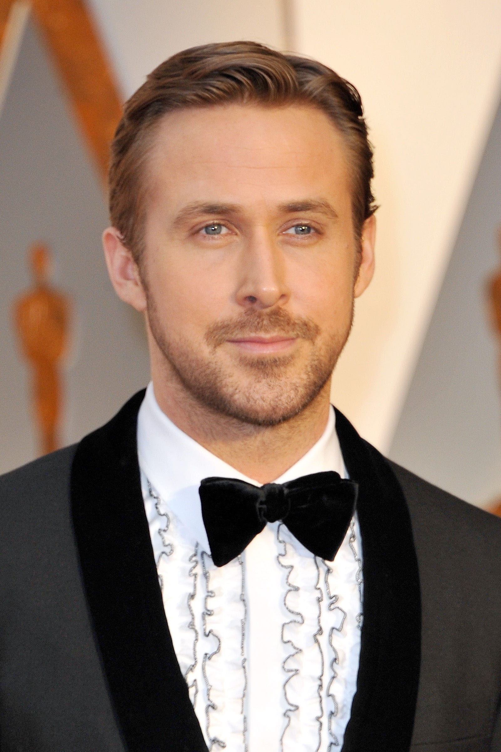 Ryan Gosling Clean Side Part February 2017
