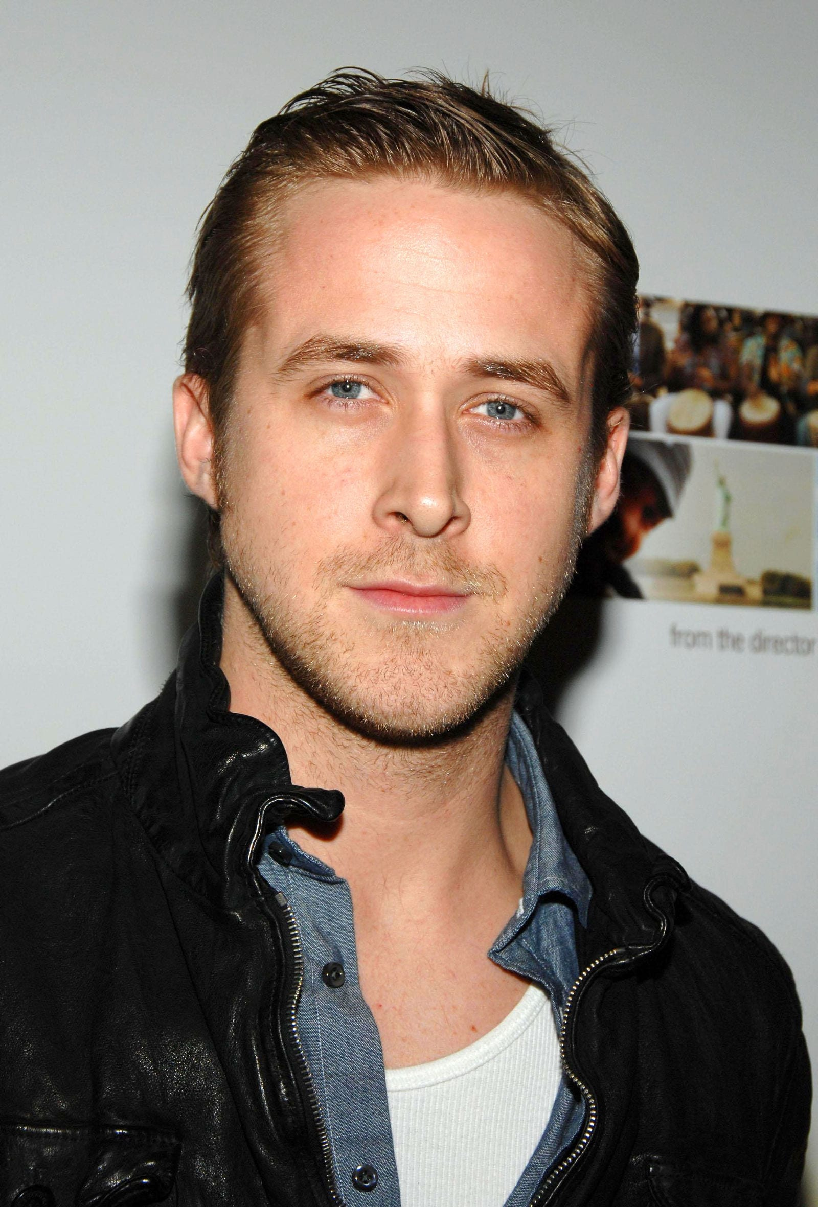 Ryan Gosling Slicked Back Top and Sides April 2008