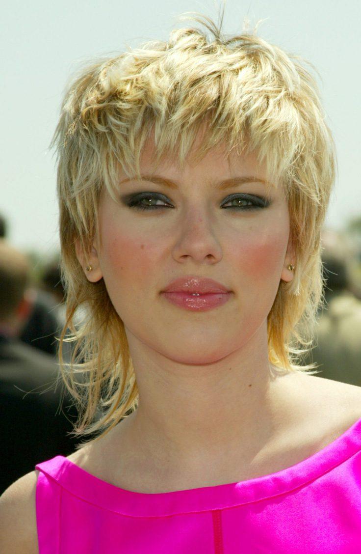 Scarlett Johansson's Hybrid Mullet Style