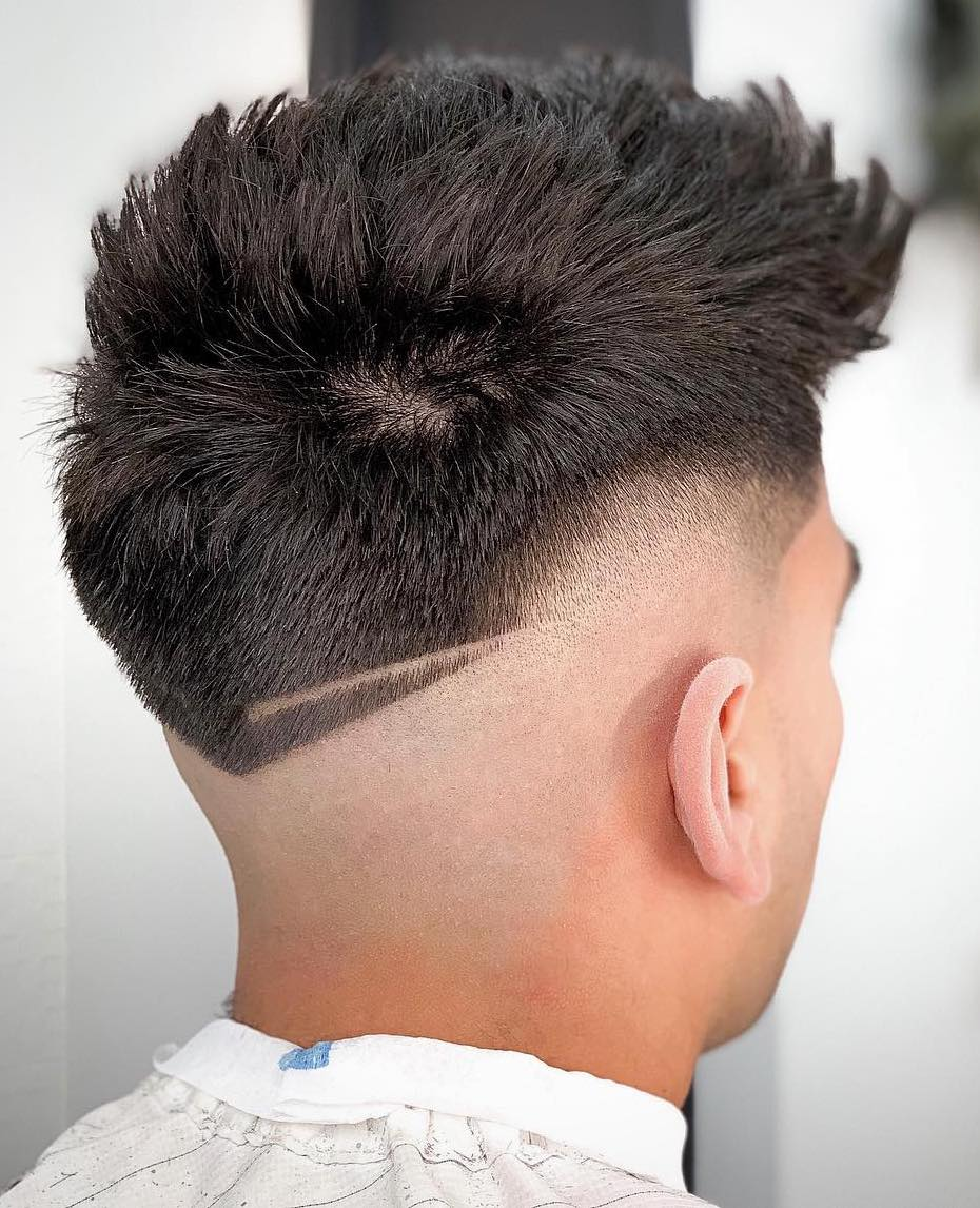 Semi-Drop Fade with Brush Up