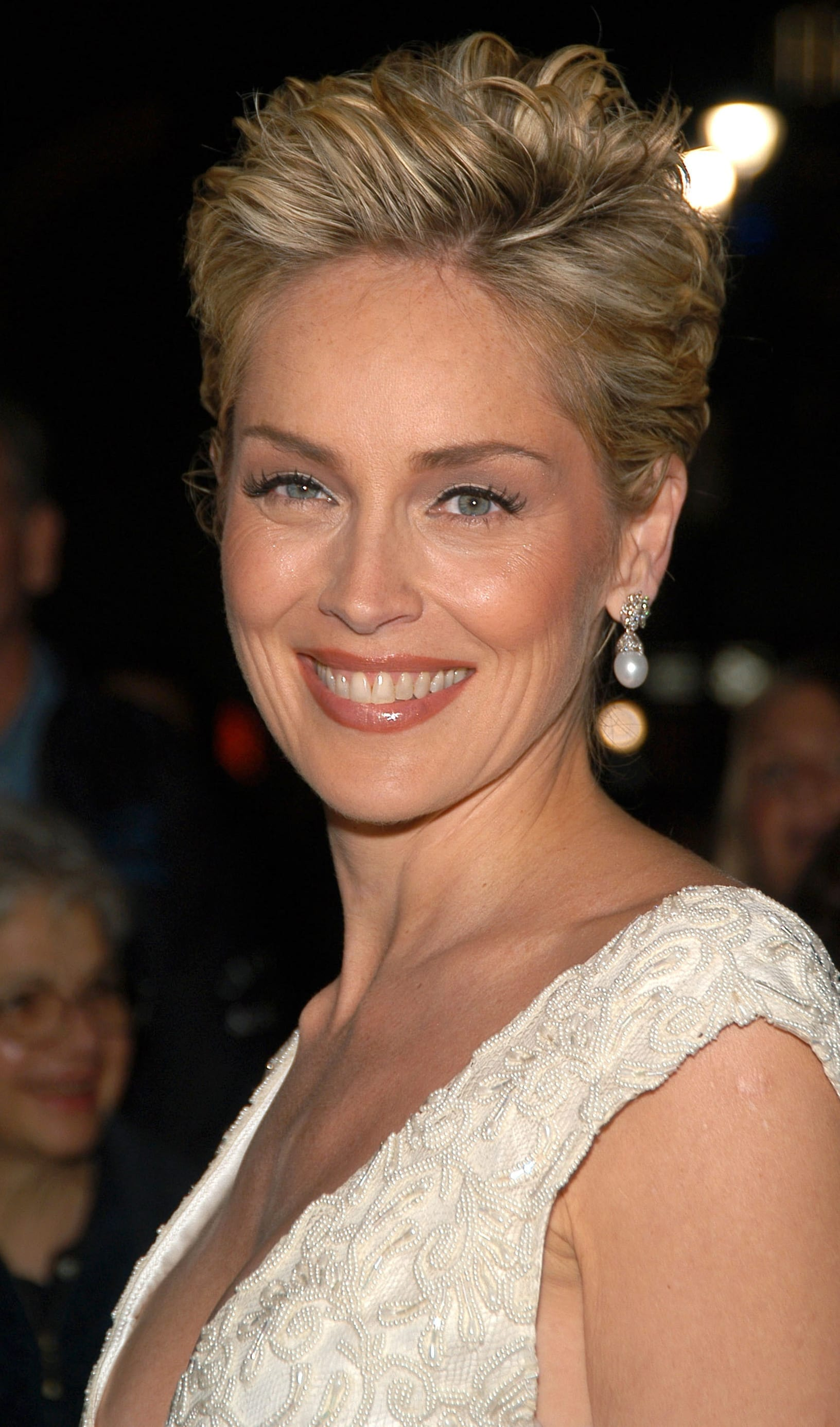 Sharon Stone Short Scissor Cut