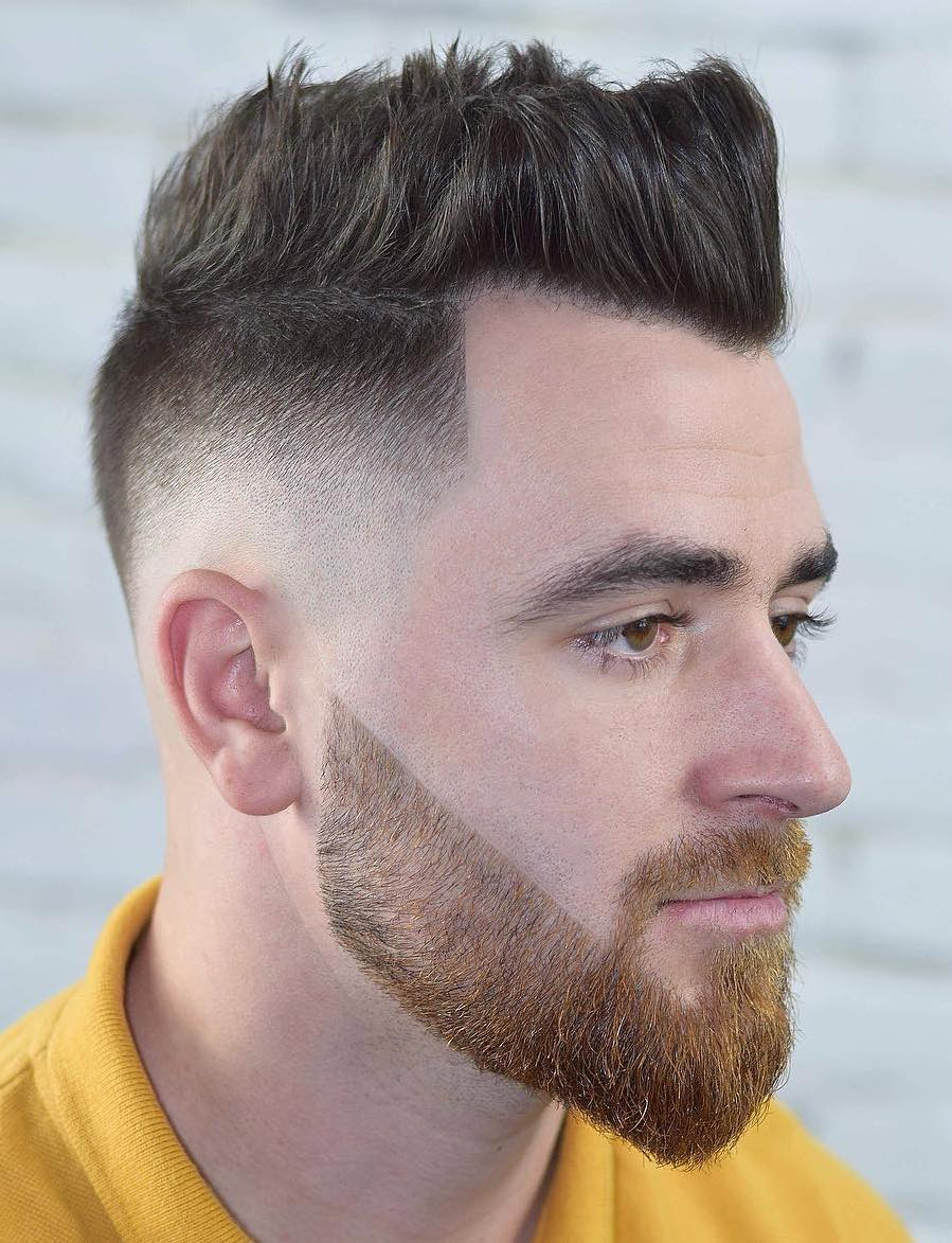 Sharp Mid Fade with Strict Brush Up