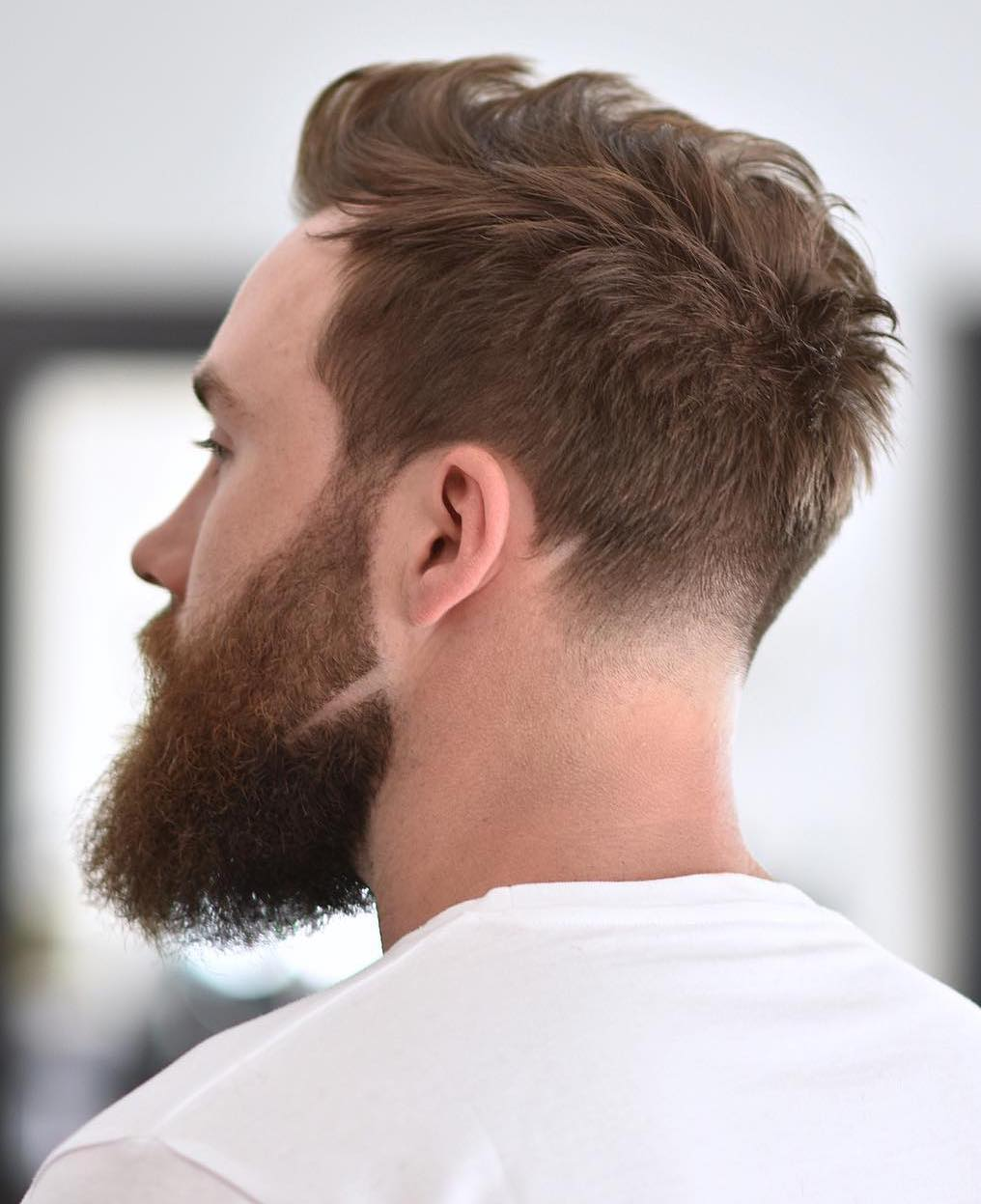 Shaved Slit with Low Tapered Neckline