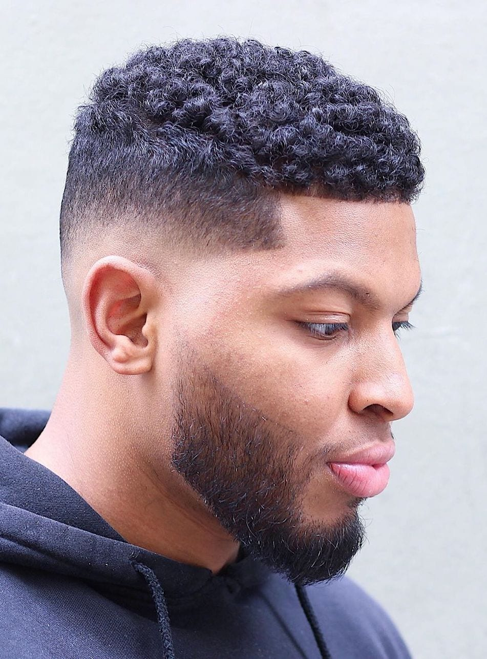 Short Curls with Low Fade