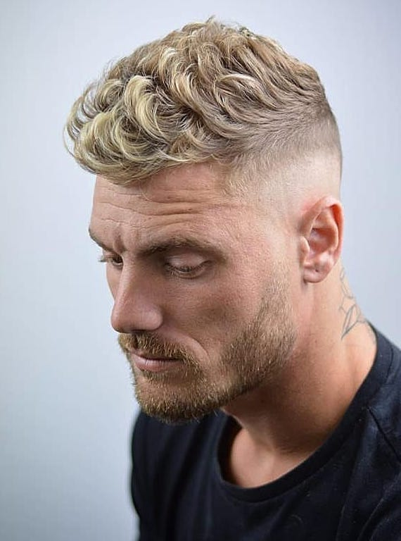 Short Waves Mixed with Undercut Taper Fade