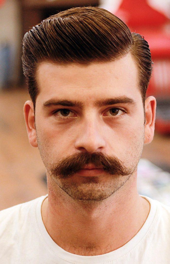 Sidde Swept Undercut with Retro Mustache