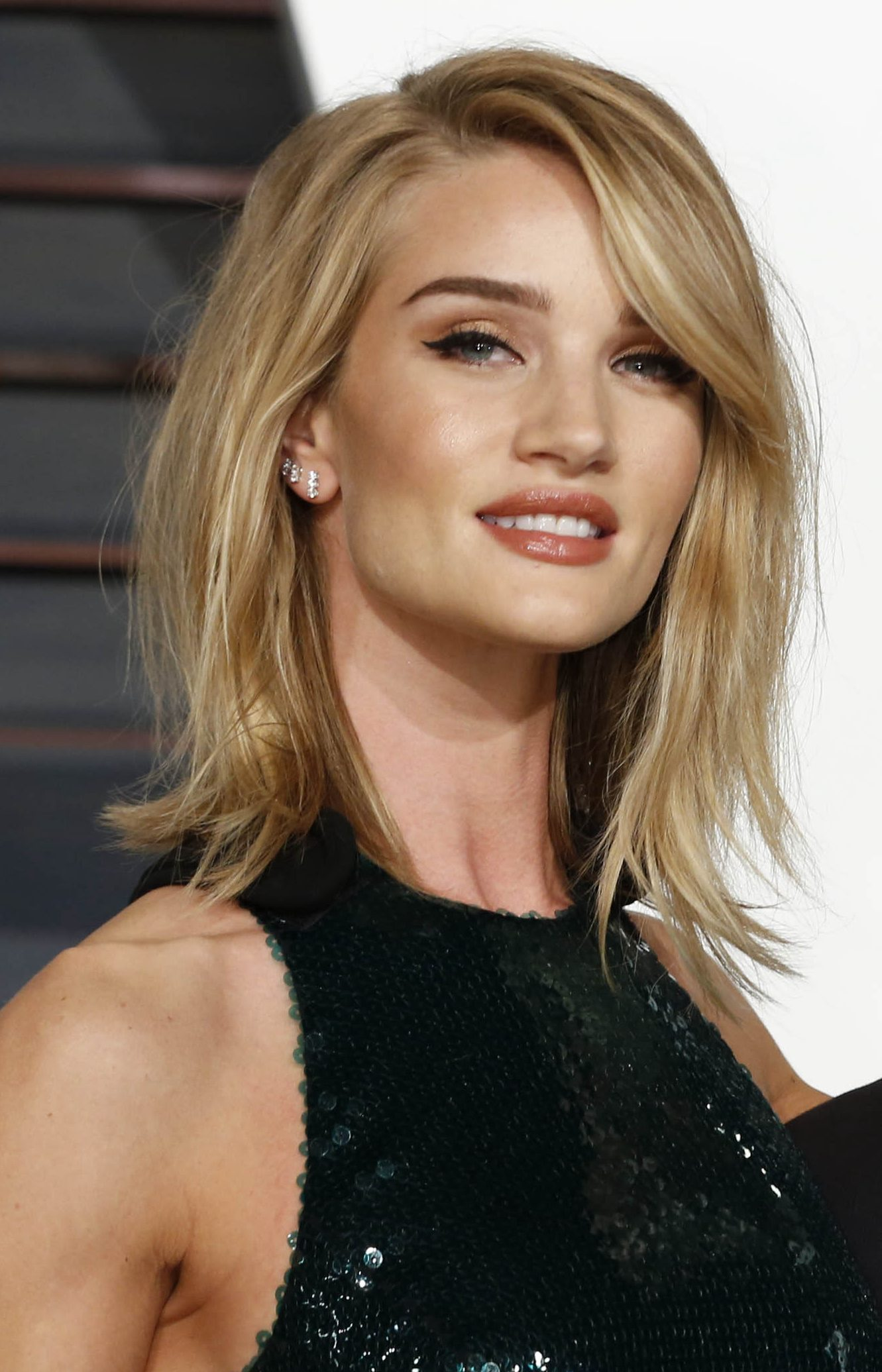 Side Parted Fringed Shag by Rosie Huntington-Whiteley