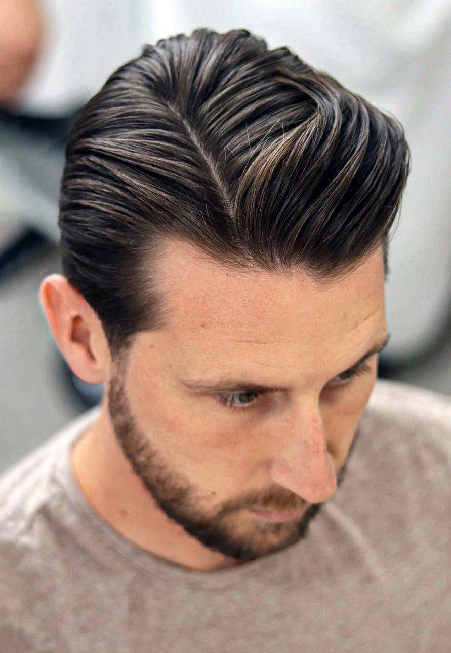Side Parted Medium Hair