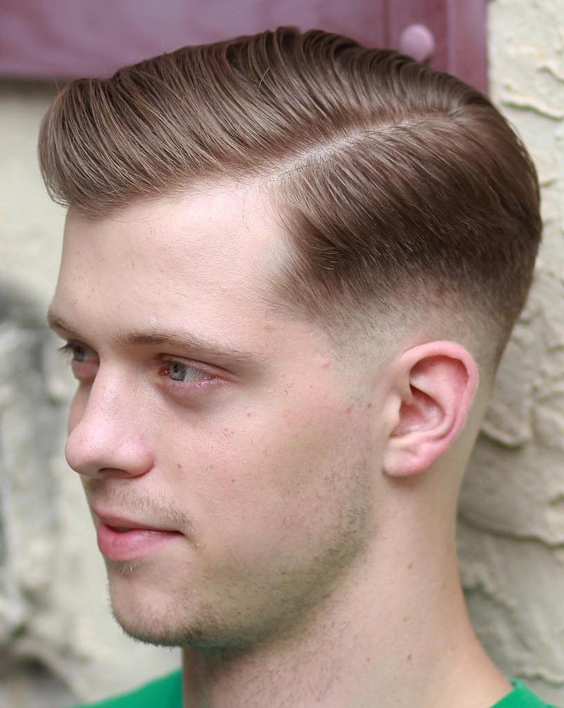 Side Swept Low Fade