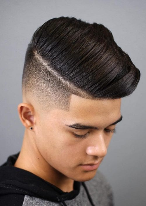 in style haircuts for teenage guys 50 best hairstyles for boys the ultimate guide 2018 4859 | Side Swept Taper Faded Teen Haircut 500x706