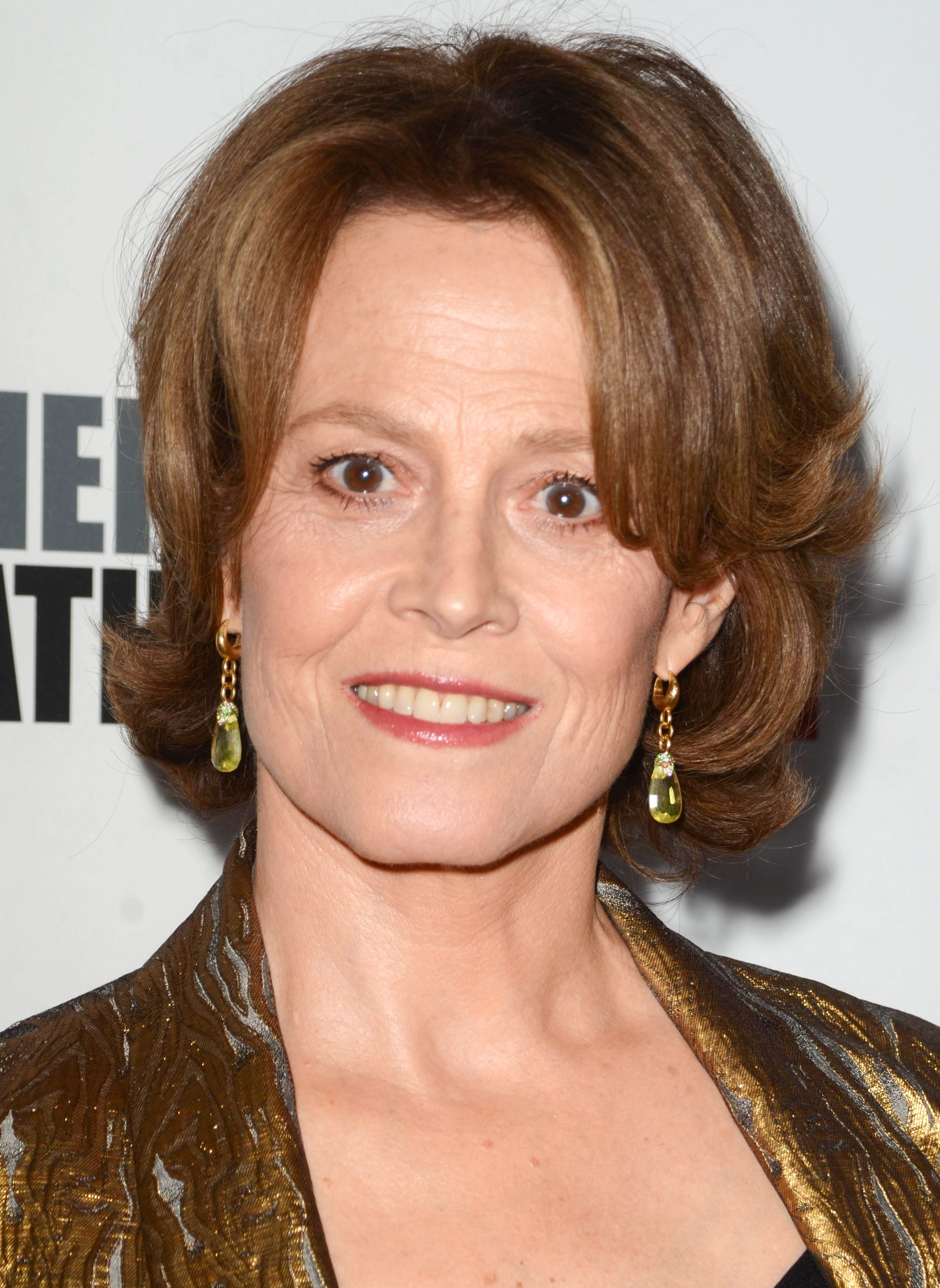 Sigourney Weaver's Brown bob with Curtain Bangs