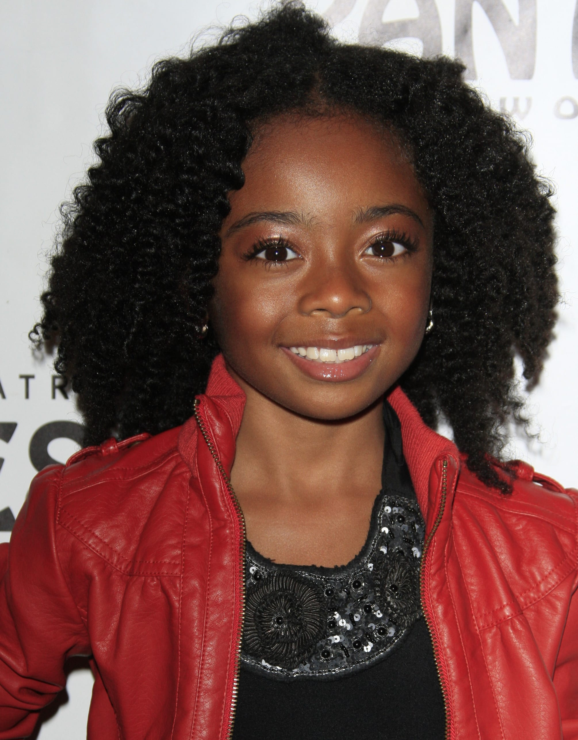 Skai Jackson's Natural Curls and Middle Part