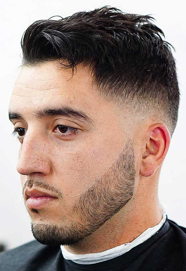 Skin Fade with Messy Top