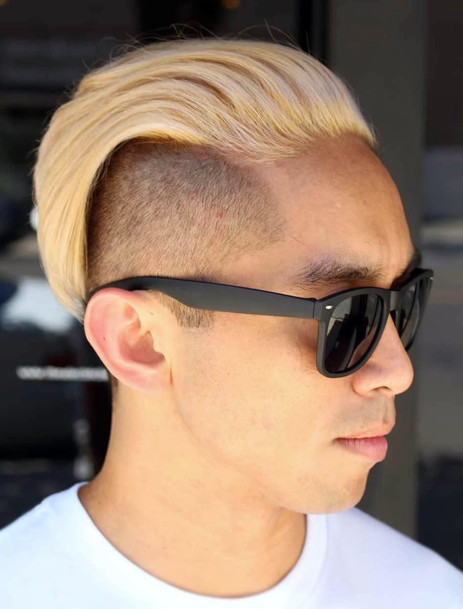 Slicked Back Undercut Blonde Hair