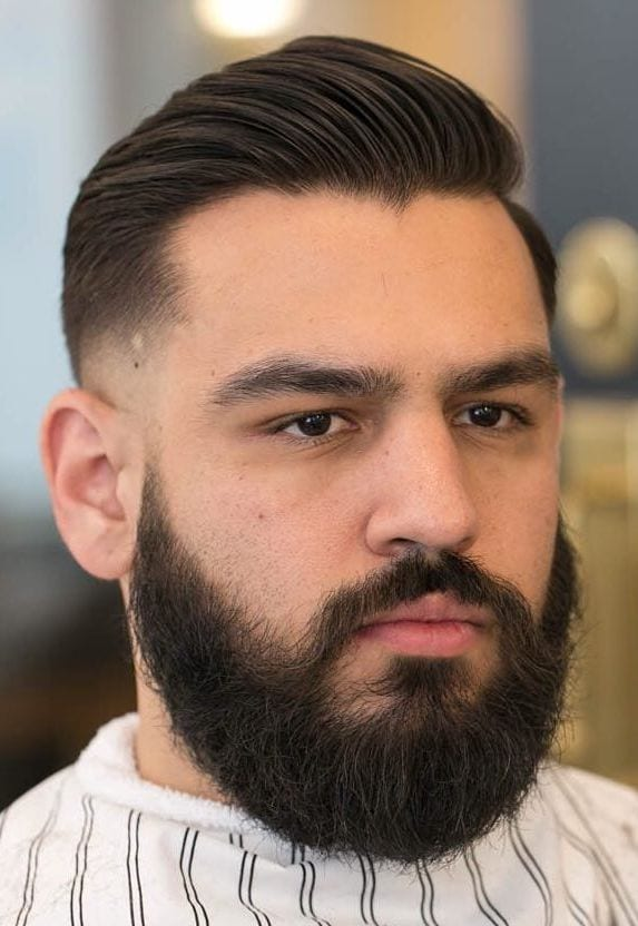 Slicked Side with Low Fade