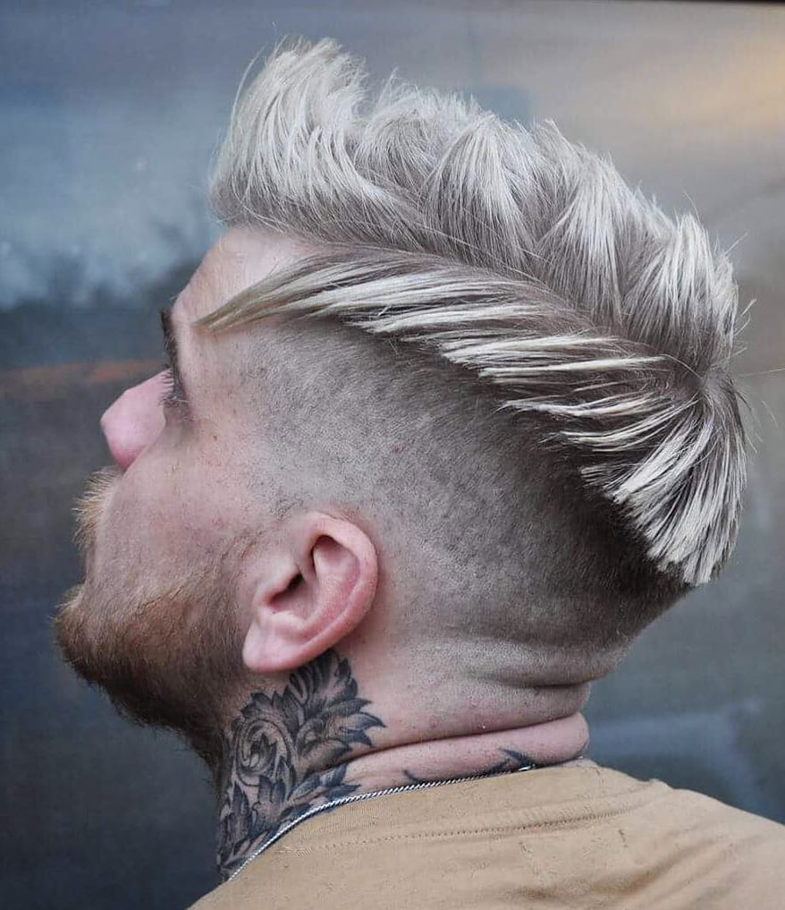 Snowy Mountains Side part and Tapered Undercut