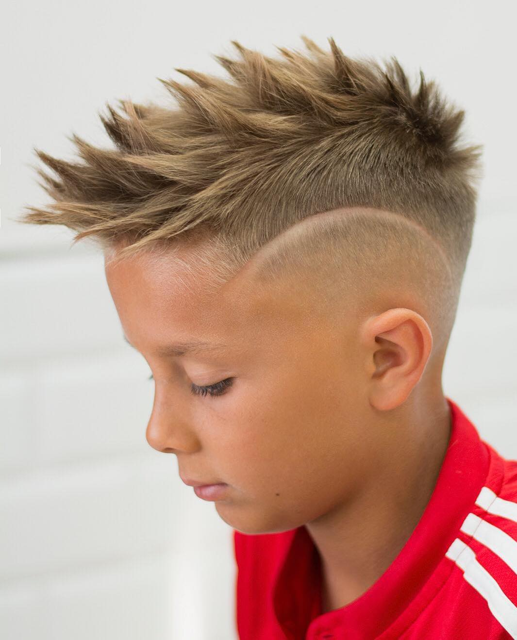 Spiky Disconnected Blonde Hair