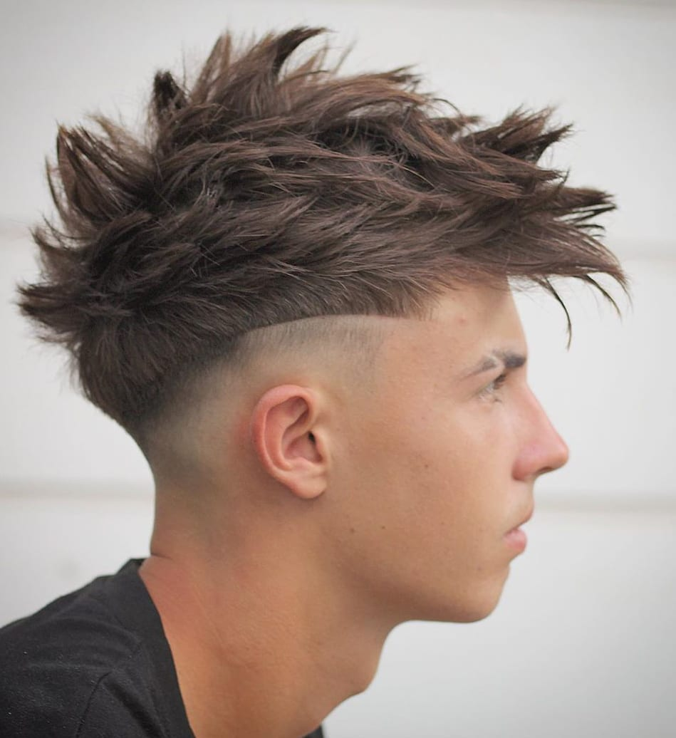 Spiky Faux Hawk and Mid Fade