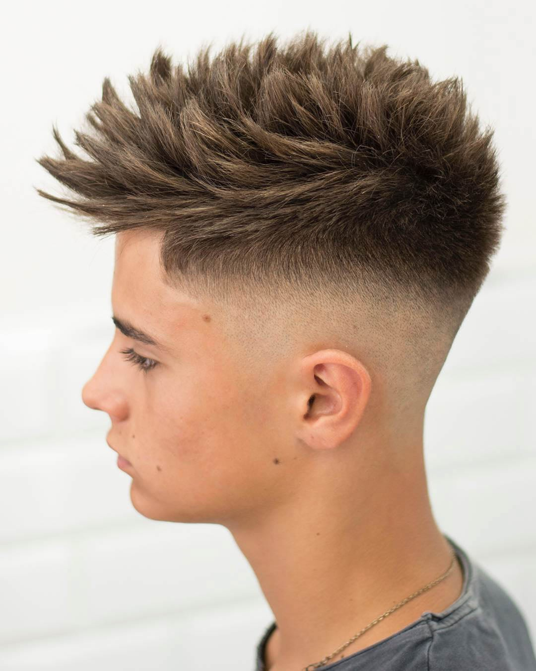 Spiky Fohawk with Fade