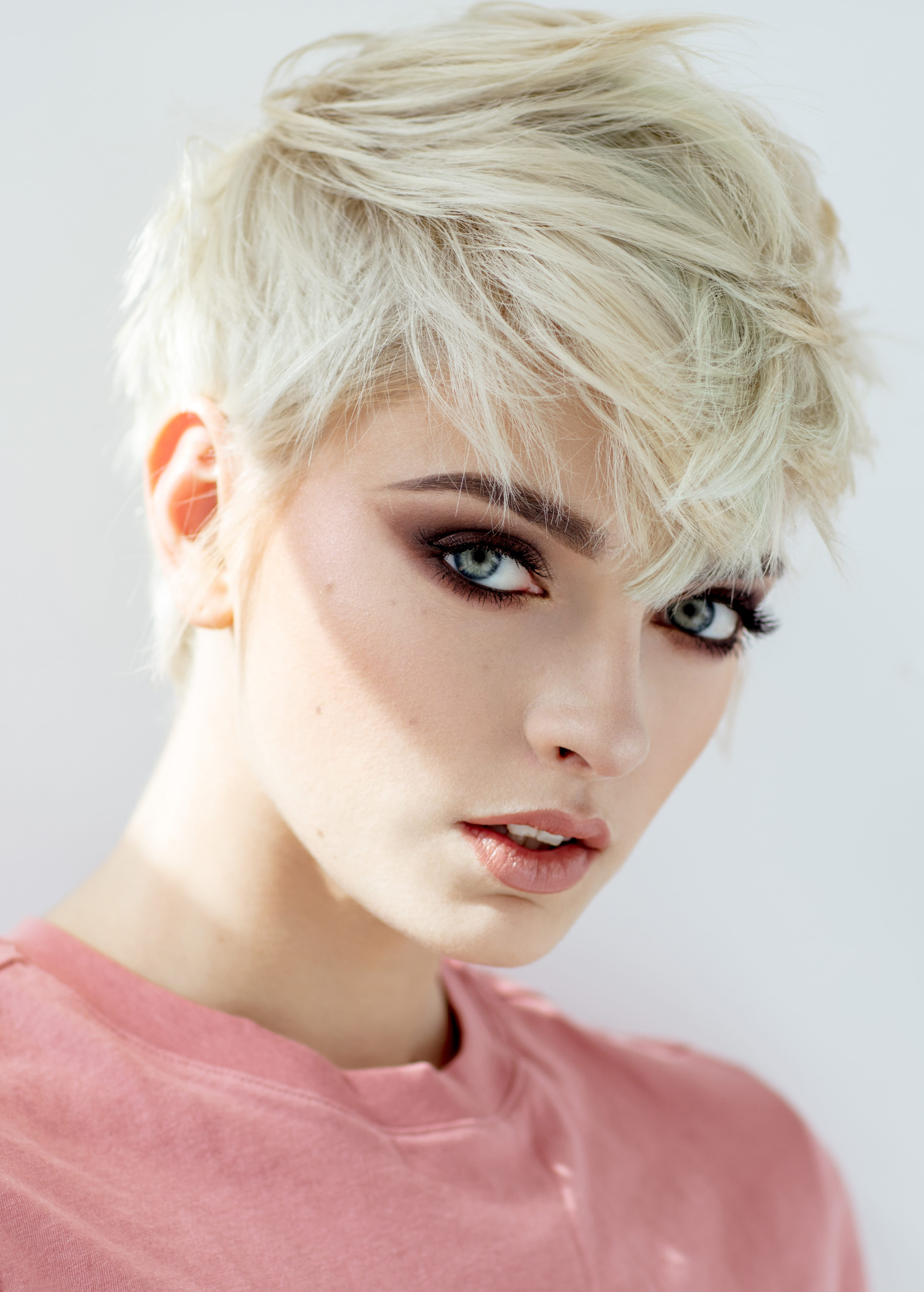 Spiky Blonde Pixie